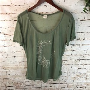 O'Neill Half floral moon graphic Scoop Neck Tee